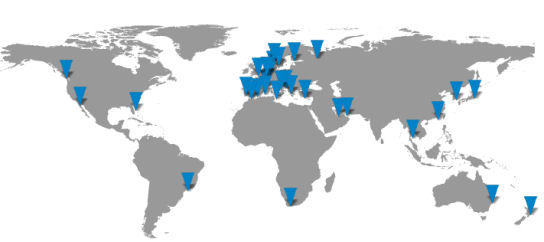 worldwide network of agents and partners in yacht brokerage